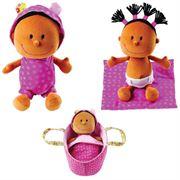 Obrazek Baby Zoe Lalka szmacianka w nosidełku LILLIPUTIENS