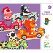 Obrazek Puzzle zwierzątka w aucie