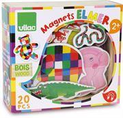 Obrazek Magnesy drewniane Elmer 20 sztuk VILAC