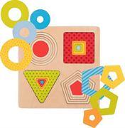 Obrazek Puzzle warstwowe - 4 kształty geometryczne GOKI
