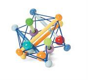 Obrazek Drewniana grzechotka zabawka manipulacyjna - pastelowa