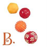 Obrazek Oddballs - zestaw 4 piłek sensorycznych B.TOYS