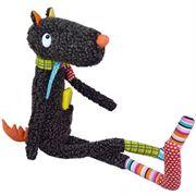 Obrazek Duży Mister Wilk 65 cm - przytulanka - zabawka aktywizująca EBULOBO