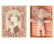 Obrazek Myszka Baby - Maleństwo - baby mouse, sleepy/wakey in box MAILEG
