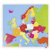 Obrazek Drewniana układanka puzzle Mapa Europy GOKI