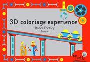 Obrazek Kolorowanka - teatrzyk 3D Roboty MON PETIT ART