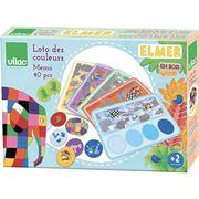 Obrazek Zestaw gier memo i lotto kolorów Elmer 2+ VILAC