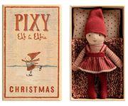 Obrazek Skrzat Elf w pudełku od zapałek - Pixy Elfie in box MAILEG
