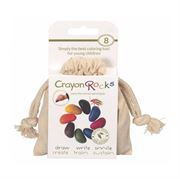 Obrazek Kredki kamyki w bawełnianym woreczku - 8 kolorów CRAYON ROCKS