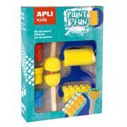Obrazek Zestaw stempelków i wałków z farbkami APLI KIDS