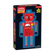 Obrazek Puzzle konturowe Robot 50 elementów 4+ MUDPUPPY