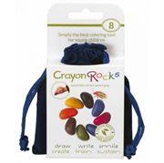 Obrazek Kredki kamyki w aksamitnym woreczku - 8 kolorów CRAYON ROCKS