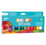 Obrazek Farby w kredce 12 kolorów APLI KIDS