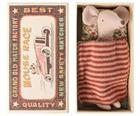 Obrazek Myszka - Starsza Siostra w pudełku od zapałek / Big Sister MAILEG