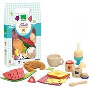 Obrazek Drewniany zestaw śniadaniowy do zabawy VILAC