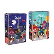 Obrazek Dwustronne puzzle dla dzieci Paryż: Dzień i Noc LONDJI