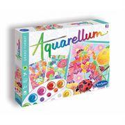 Obrazek Zestaw kreatywny Aquarellum Kwiaty 3 obrazy i farby SENTOSPHERE