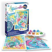 Obrazek Aquarellum Świecące Syreny 2 obrazy i farby SENTOSPHERE