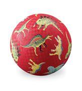 Obrazek Piłka 13 cm - motyw czerwone dinozaury CROCODILE CREEK